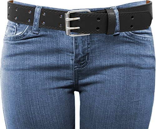 EURO-Womens-Thick-Wide-2-Hole-Leather-Belt-BN9041