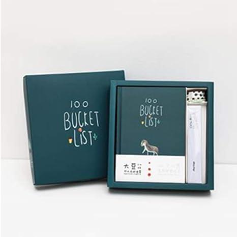 Amazon.com : LIJUCAI Notebook Cute Kawaii Books 100 Bucket ...