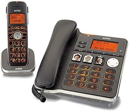 Kit Teléfono fijo + inalámbrico para mayores con contestador teclas XL grandes ampio pantalla Volume AMPLIFICATO