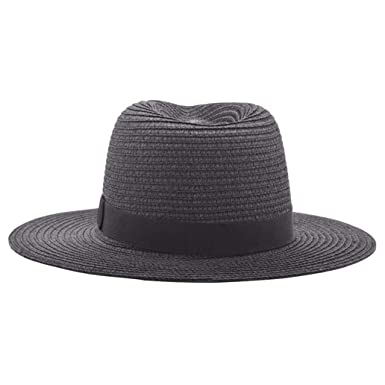 Summer Hats Women-Beach Sun Caps Black Ribbon Fashion Lady Straw Hat at  Amazon Women s Clothing store  e1ecec14f14