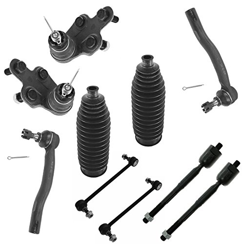 Tie Rod End Bellow Boot Ball Joint Sway Bar Link Steering Suspension Kit 10pc