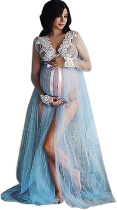 Vestidos Premama Fiesta Largos Maxi SHOBDW Moda 2019 Vestido de Maternidad Fotografia Encaje Vestidos Mujer Verano Sexy Cuello en V Bandage Ropa Premamá Vestidos de Fiesta: Amazon.es: Ropa y accesorios