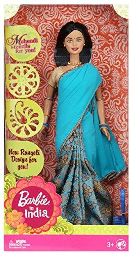 Charm Saree - Barbie In India (New) – Blue Saree