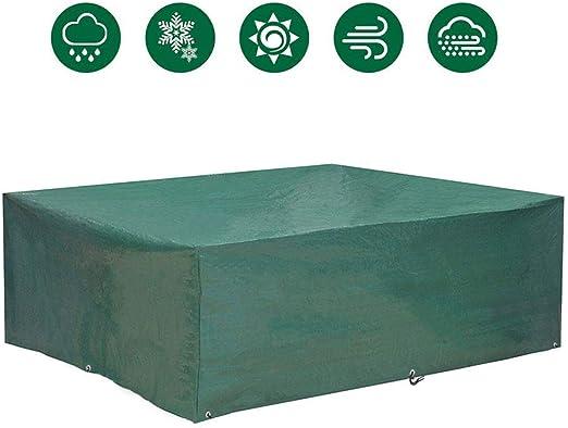 EASTERNSTAR Funda Protectora Impermeable para Muebles de jardín, Muebles de jardín, Mesa y sillas, para Exteriores, Rectangular (200 x 160 x 70 cm): Amazon.es: Jardín