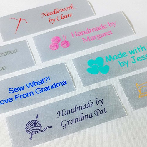 (Personalized Satin Sewing Labels for Knitting, Quilting and Sewing Crafts 3/4
