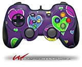 Crazy Hearts - Decal Style Skin fits Logitech F310 Gamepad Controller (CONTROLLER SOLD SEPARATELY)