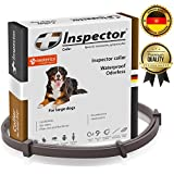 Dog Flea Treatment Collar - Inspector Flea & Worm Collar for dogs – Flea Control and Tick Treatment – Better than Oral Flea Control Meds – Dog Dewormer – Dog Worm Medicine for Tapeworms (OVER 65 LB (29.4 inch))