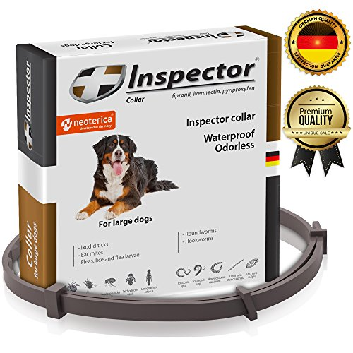 Flea & Worm Collar for Dogs - Flea Control and Tick Treatment - Better Than Oral Flea Control Meds - Dog Dewormer Prevention - Dog Worm Medicine for Hookworms Roundworms