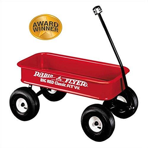 Big Red Classic Wagon Ride-on, Red Kids Wagon