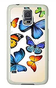 Butterflies 2 White Hard Case Cover Skin For Samsung Galaxy S5 I9600