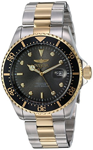 Invicta Men's 22057 'Pro Diver' Quartz Stainless Steel Two Tone Bracelet Watch (Diver Stainless Steel Bracelet Watch)