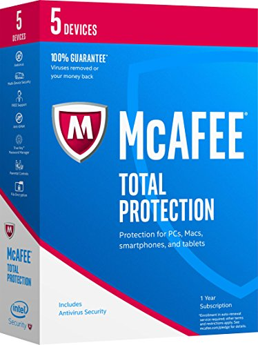 Mcafee 2017 Total Protection 5 Devices  Key Code
