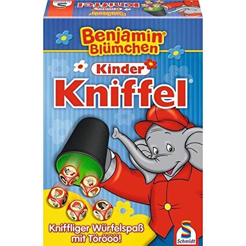 Schmidt Spiele 40390 - L'Elefante Benjamin, Gioco Yahtzee [Lingua Tedesca]
