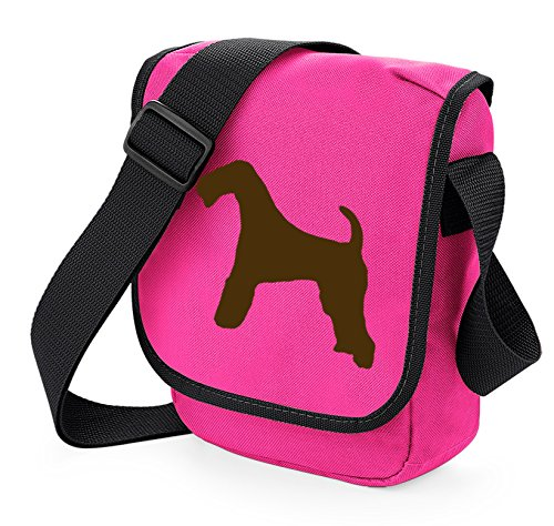 Silhouette Reporter Gift Of Choice Terrier Colours Shoulder Airedale Pink Bag Dog XwRqxPH