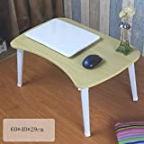 PLLP Table-Fibreboard Foldable Laptop Tables Bed with Learning Table,2