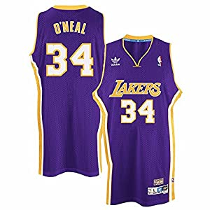46ad33041 Shaquille O Neal Los Angeles Lakers NBA Adidas Purple 2000-01 Soul Swingman  Throwback Away Road Jersey For Men