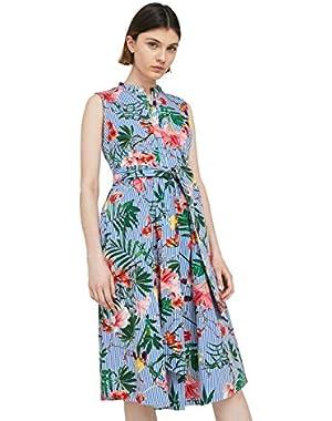 Mango Women's Printed Bow Dress