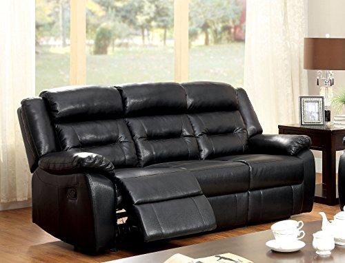 Furniture of America Jared Leatherette 2-Recliner Sofa