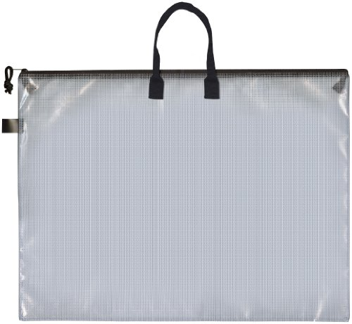 Pro Art PRO-7215H Mesh/Vinyl Bag with Handle and Zipper, 19 by 25-Inch ()