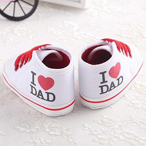 mesi Infant Soft Calzature per Cute con Baby White Sneaker B di 18 tela sneakers 0 Auxma antiscivolo gqzqEBx6