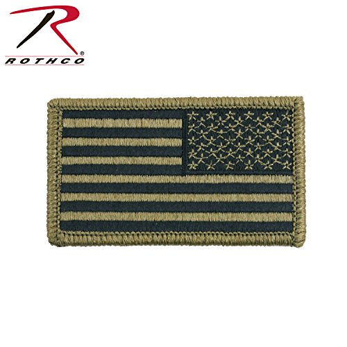 (Rothco OCP American Reverse Flag Patch with Hook Back)