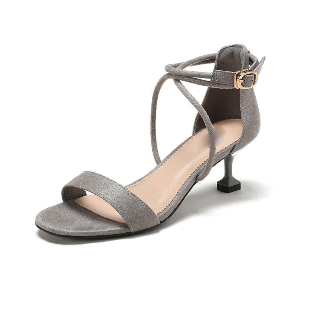 DKFJKI Talons Chaussures Bal pour Femmes Sandales Talons Hauts Verres Ceintures à Vin Ceintures Bal Mode Grey 2d70784 - fast-weightloss-diet.space