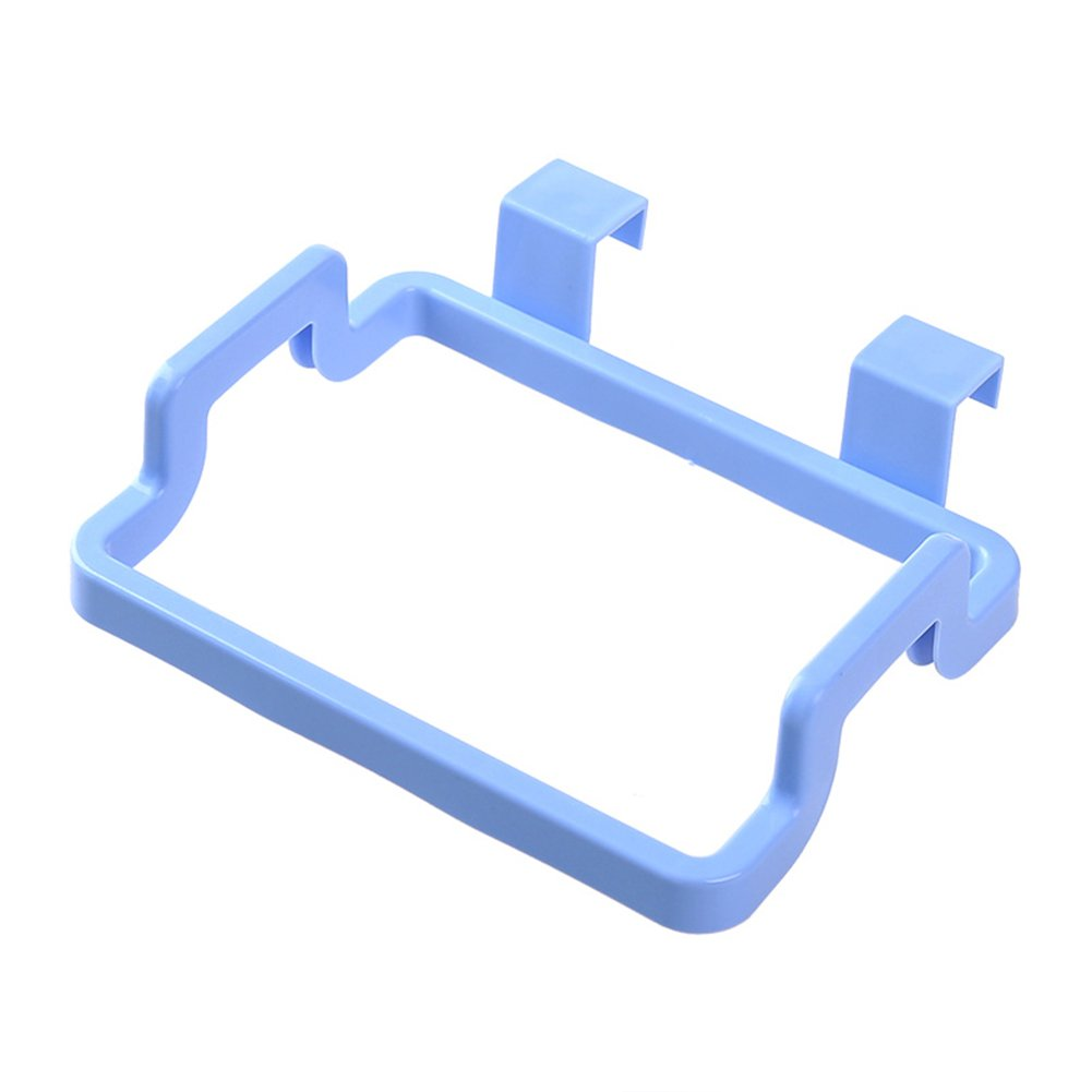 azul polipropileno MYLL Soporte para bolsas de basura para puerta de armario y cuelga de basura 04#