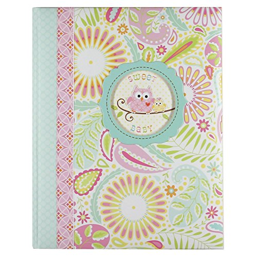 (C.R. Gibson 'Sweet Baby' Pink Owl First Five Years Girl Memory Baby Book, 64pgs, 10'' W x 11.75'' H )