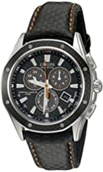 "Citizen Men's BL5500-07E ""Octavia"" Stainless Steel Watch with Black Leather Band"