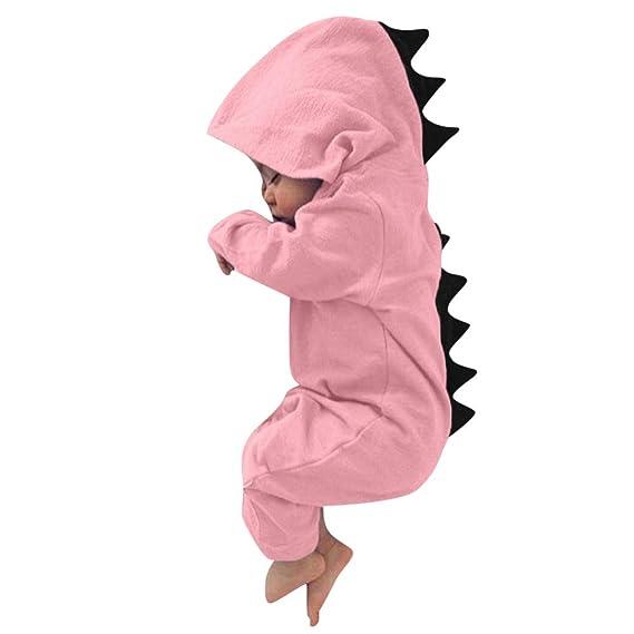 Conjuntos Bebe Niño Navidad, 🎈 Btruely Ropa Bebe Nino Recien Nacido otoño pequeño bebé niñas niños Dinosaurio con Capucha Mameluco Zip Ropa Mono: ...