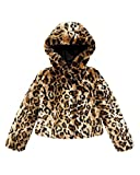 Juicy Couture Girls Leopard Faux Fur Swing Coat Jacket Animal (Large)