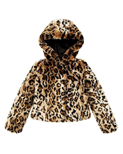 Juicy Couture Girls Leopard Faux Fur Swing Coat Jacket Animal (Large) by Juicy Couture