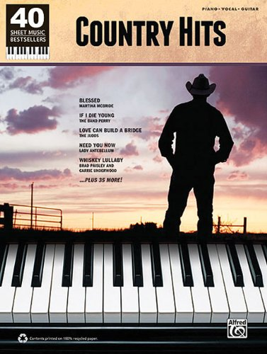 Country Hits: 40 Sheet Music Bestsellers Series