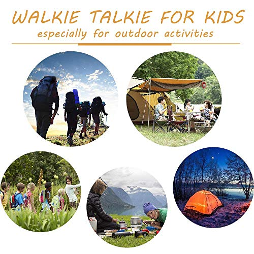 MOSCHE Walkie Talkies for Kids, Boy Toys Handheld Walkie Talkies with Flash Light 4 Miles 22 Channel 2 Way Radio Kids 5-Year Old Boys and Girls Perfect for Outdoor Games Camping Hiking