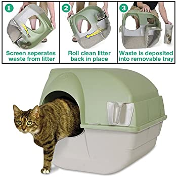Amazon Com Omega Paw Self Cleaning Litter Box Large Pet