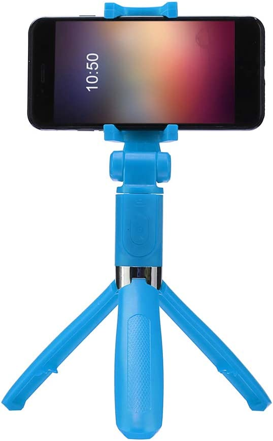 BT Wireless Remote Shutter 360 Degrees Swivel TOPTOO Selfie Tripod Phone Holder Stick Monopod