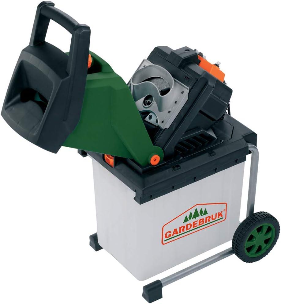 Gardebruk Trituradora el/éctrica con cuchillas reversibles para /árboles arbustos ramas colector de 50L 2500 W jardiner/ía