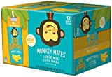 Sir Bananas Monkey Mates, Bananamilk, 8 oz (12 ct), Low Fat Milk with Real Bananas in Individual, Single Serve Milk Box Cartons Ready to Drink, with 8 Grams of Protein