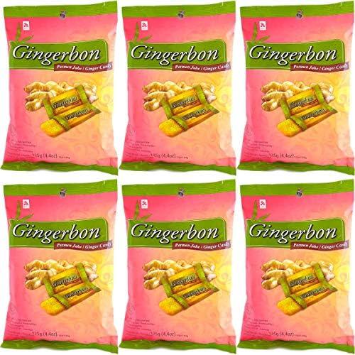 まとめ買いセット Gingerbon ジンジャーボン Ginger Candy 生姜ソフトキャンディー 125g×6袋 ノーマル [海外直送品]