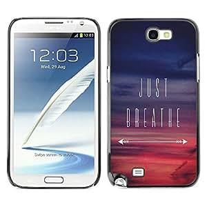 Caucho caso de Shell duro de la cubierta de accesorios de protección BY RAYDREAMMM - Samsung Galaxy Note 2 N7100 - Inspirational Sunset Purple