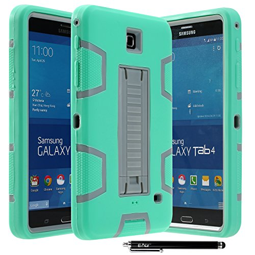 Galaxy Tab 4 7.0 Case, E LV High Impact Resistant Full-body Protection Hybrid Armor Defender Case Convertible Built (Samsung Galaxy Tab 4 7 Stand)