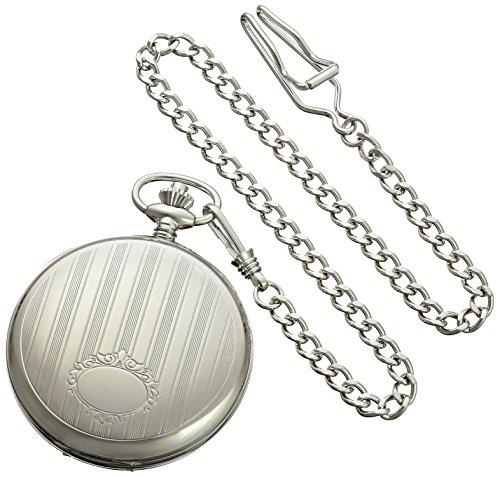 Charles-Hubert-Paris-3973-W-Classic-Collection-Analog-Display-Mechanical-Hand-Wind-Pocket-Watch
