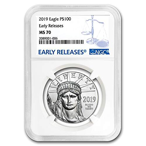 2019 1 oz Platinum American Eagle MS-70 NGC (Early Releases) 1 OZ MS-70 NGC - Platinum Eagle Ngc Mint