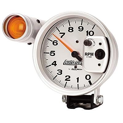 Autogage by AutoMeter 5 in. Pedestal Mount Tachometer, 0-10,000 RPM with Large External Shift Light 233911: Automotive