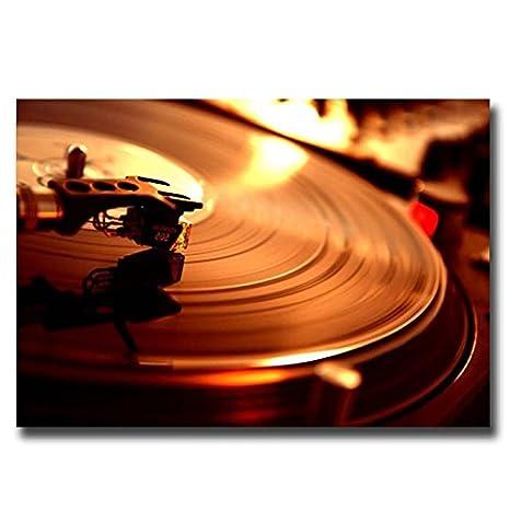 Tocadiscos Vinilo lienzo pared Art print imagen Póster pequeño ...