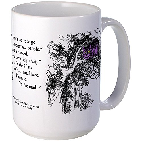 CafePress - The Cheshire Cat and Alice Mugs - Coffee Mug, Large 15 oz. White Coffee Cup