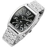 [ミッシェルジョルダン]michel Jurdain 腕時計 ダイヤモンド 5P 入り トノー型  メタル ベルト メンズ ウォッチ ブラックxホワイト SG-1000A-1B メンズ