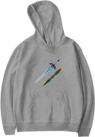 guoweiweiB Sudadera Juvenil con Capucha Legend-Zelda Master Sword Youth Sweatshirt 3D Printed Fashion Long Sleeve Hoodies for Teen Girls Boys