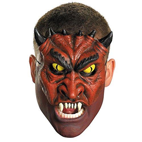 Chinless Dark Skull Adult Vinyl Mask - Disguise Costumes Chinless Blood Devil Vinyl