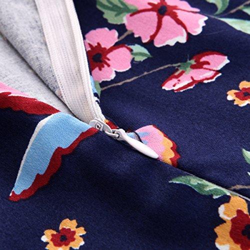 Dress Printed Bird Sleeveles Deodar Floral Strap Mid Short Length Casual qwwxZfB